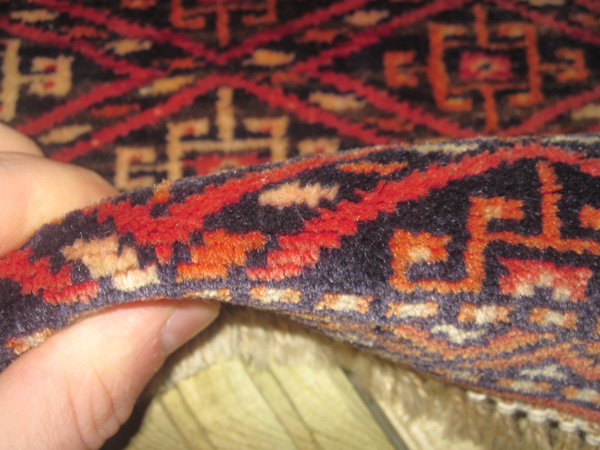 close up of the rugs pile