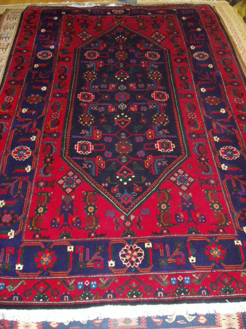 A small tribal Joshaghan rug