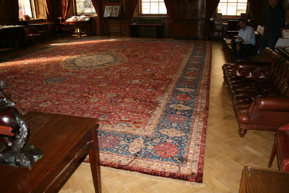 Sourced rug in place