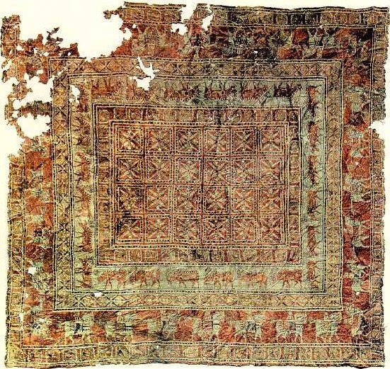 Picture of the Pazyryk carpet