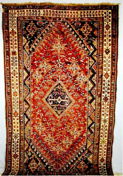 an example of a very fine Qashqai rug