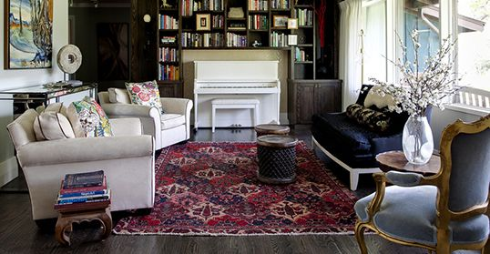 hand-knotted floral persian rugs