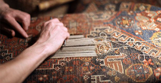hand-knotted rug repair