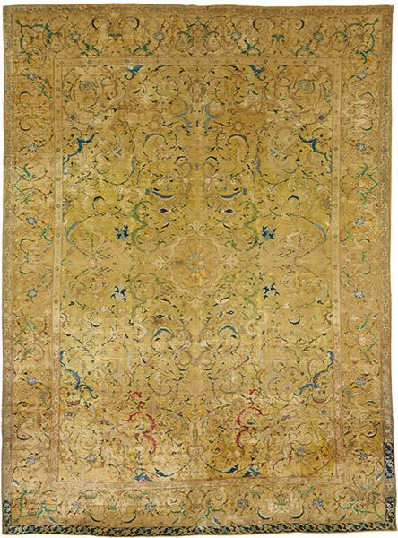A Safavid Isfahan rug sold at Christies Auction house for $4.45m