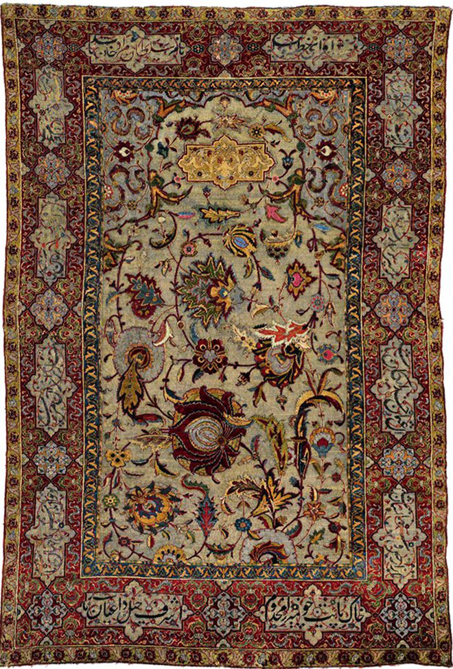 A Safavid Isfahan Rug In Silk And Wool Sold For 4 3m
