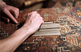 Persian Rug repair at Little-Persia
