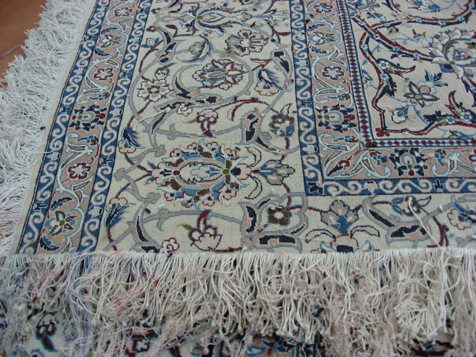 The Rug Has Had Its Knots Removed Back To A Healthy Area Of Foundation