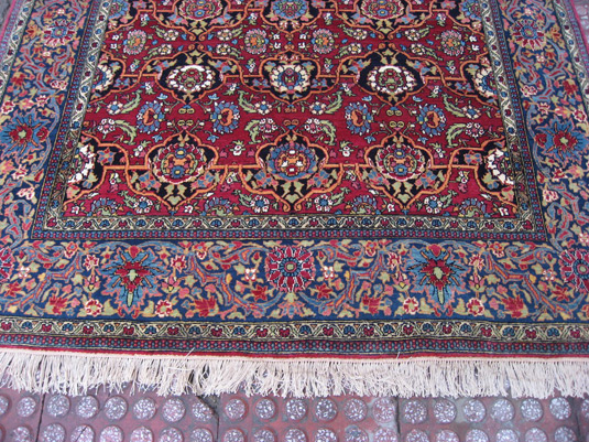 Isfahan Rug After Cleaning And Repair