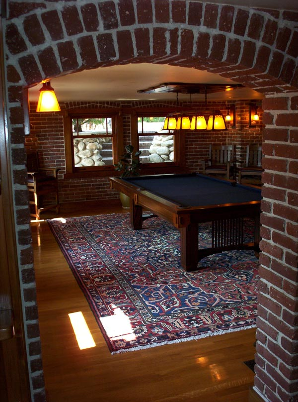 Billards room finished perfectly with Persian rug