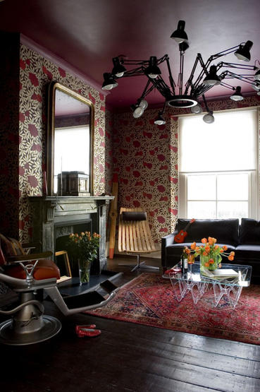 Persian Rug in contemporary London flat
