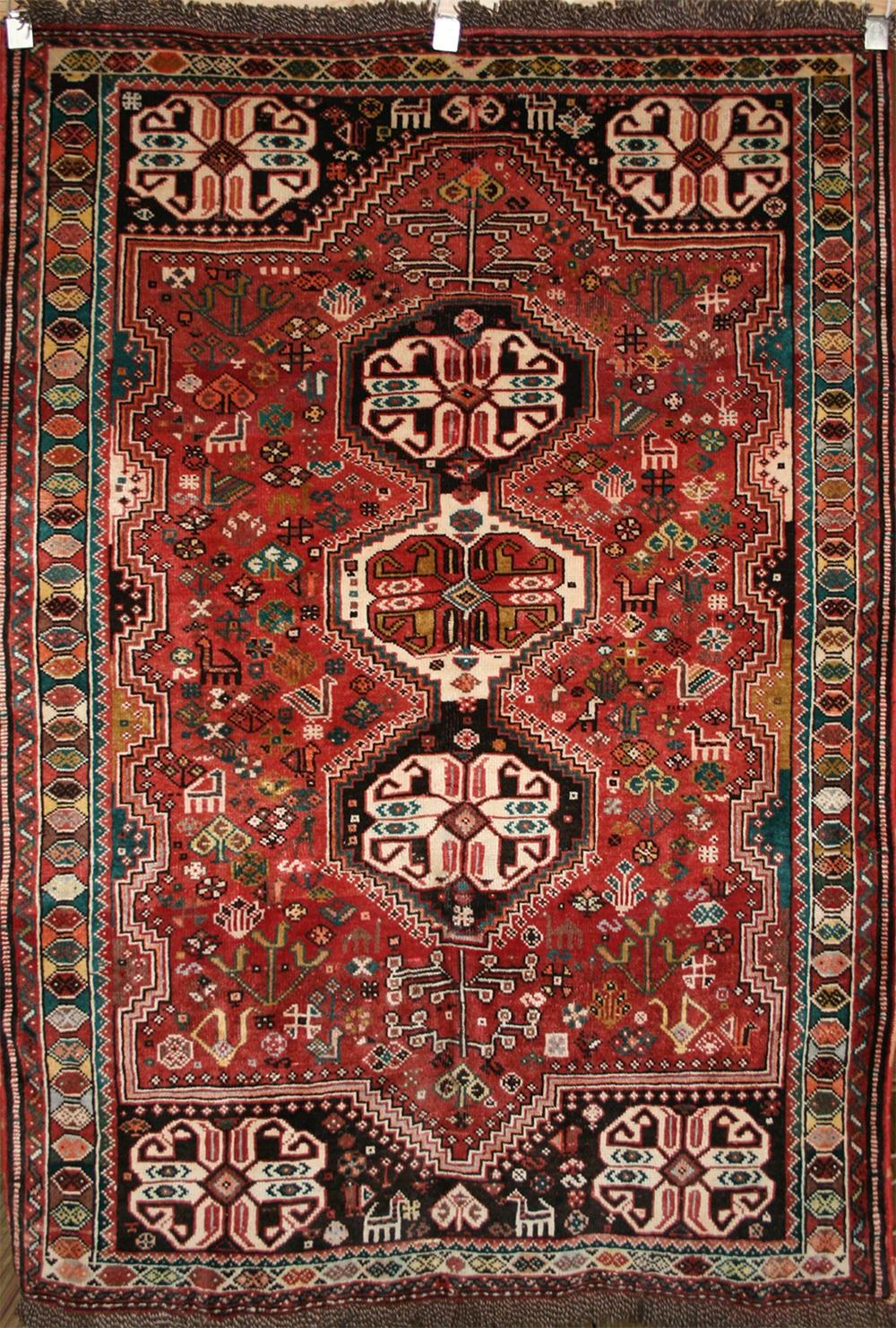 Persian Hand Knotted Shiraz Rug In Wool Ref 111 1 76m