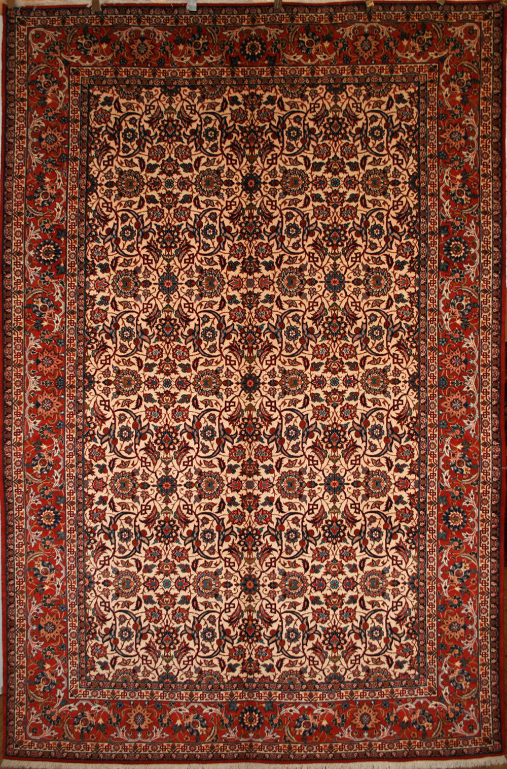 A large Isfahan carpet with all over pattern