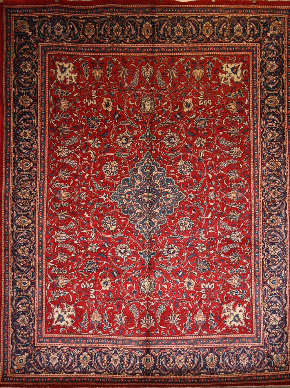 Large Persian Hand Knotted Ahar Rug In