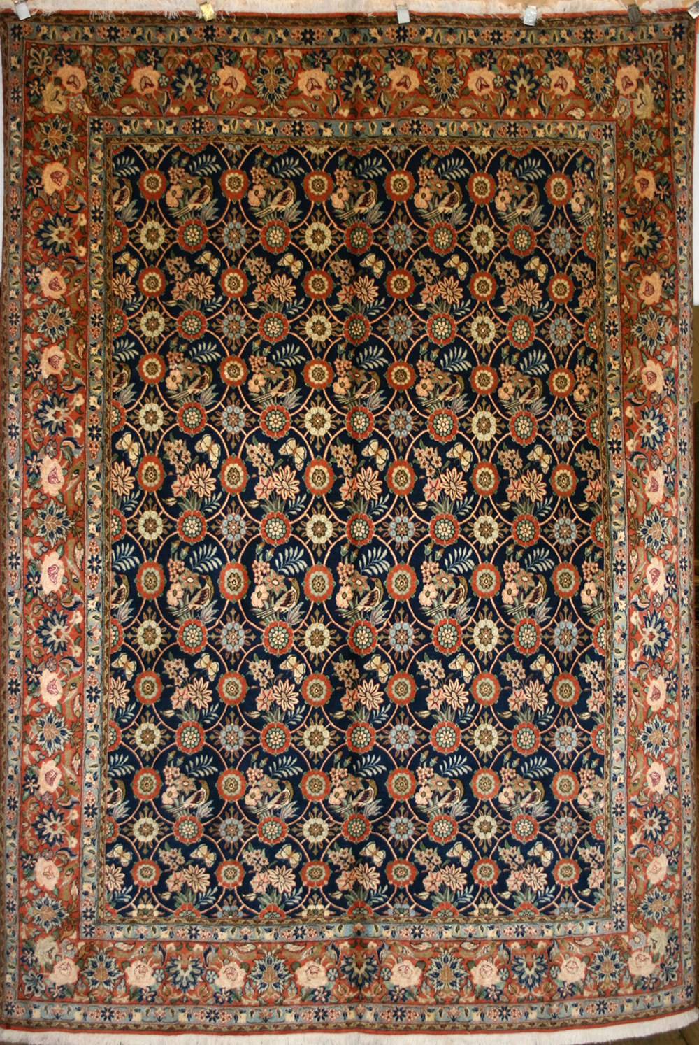 Persian Hand Knotted Varamin Rug In Wool Silk Ref 392 2 82m X
