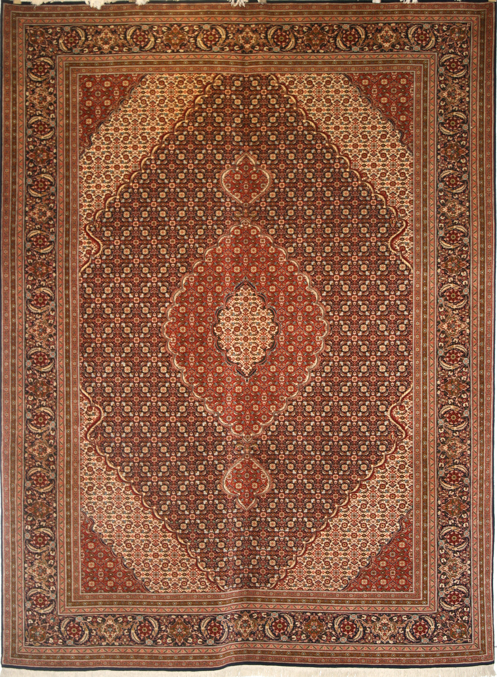 Captivating Tabriz Rug An Indian Rug Knotted To A Tabriz Design